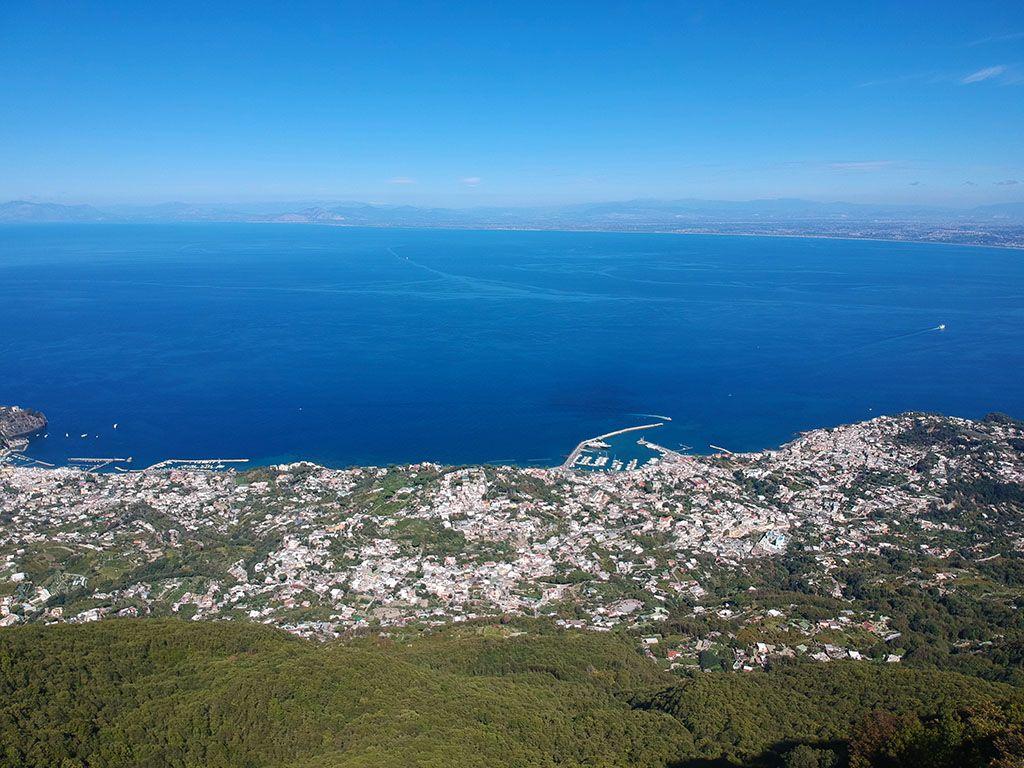Panorama su Casamicciola Terme dal Monte Epomeo